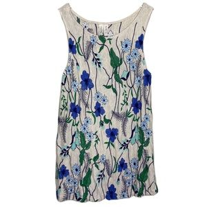 Anthro Meadow Rue Sleeveless Floral Blouse Sz Med